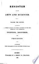 The Register of Arts, and Journal of Patent Inventions Pdf/ePub eBook