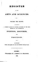 The Register of Arts  and Journal of Patent Inventions