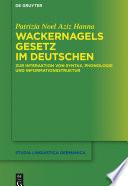 Wackernagels Gesetz im Deutschen