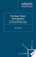 Framing Citizen Participation