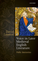 Voice in Later Medieval English Literature