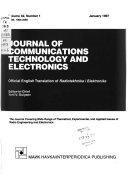 Journal of Communications Technology & Electronics