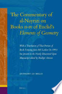 The Commentary of Al-Nayrizi on Books II-IV of Euclid's Elements of Geometry