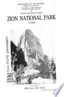 Circular Of General Information Regarding Zion And Bryce Canyon National Parks Utah