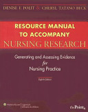 Resource Manual To Accompany Nursing Research