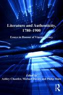 Literature and Authenticity, 1780–1900 Book