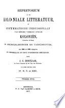 Repertorium op de Koloniale Litteratur, of systematische Inhoudsopgaaf van hetgeen voorkomt over de Koloniën (beoosten de Kaap) in mengelwerken en tijdschriften, van 1595 tot 1865 uitgegeven in Nederland en zijne overzeesche bezittingen0 Pdf/ePub eBook