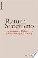 Return Statements