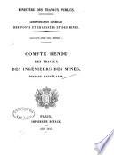 Compte-rendu des travaux des Ingénieurs des Mines