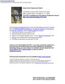 Damp Indoor Spaces and Health