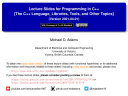 Lecture Slides for Programming in C++ (Version 2021-04-01)