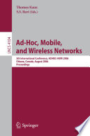 Ad Hoc Mobile And Wireless Networks Book PDF