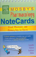Mosby s Pharmacology Notecards Book