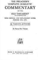 The Preacher S Complete Homiletic Commentary On The Old Testament