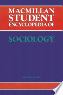 Macmillan Student Encyclopedia Of Sociology PDF
