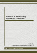 Advances in Manufacturing Science and Engineering Pdf/ePub eBook