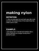 Urban Dictionary Funny 'making Nylon' Lined Notebook. Journal & Exercise Book (Black)