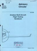 Amateur built Aircraft Flight Testing Handbook