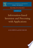 Information Based Inversion And Processing With Applications Book PDF