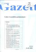 Gazette Assemblée parlementaire Avril 2000, n° II/2000