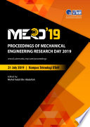 Proceedings of Mechanical Engineering Research Day 2019 Book