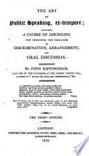 The Art Of Public Speaking Ex Tempore Book PDF