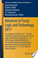 Advances in Fuzzy Logic and Technology 2017 Book