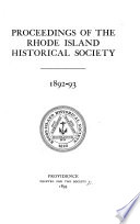 Publications of the Rhode Island Historical Society Book