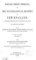 Magnalia Christi Americana  book 4  Sal gentium  1853  book 5  Acts and monuments  1853  book 6  Thaumaturgus  1853  book 7  Ecclesiarum pr  lia  1853