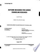 Outcome Measures for Career Counseling Research Book