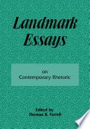 Landmark Essays on Contemporary Rhetoric