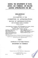 Science  the Departments of State  Justice  and Commerce  and Related Agencies Appropriations for 2007 Book