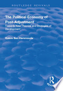 The Political Economy Of Post Adjustment