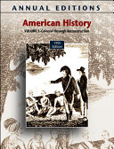 Annual Editions  American History  Volume 1