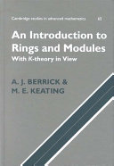 An Introduction to Rings and Modules