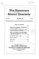 Veterinary Alumni Quarterly Book