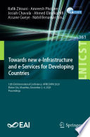 Towards New E-Infrastructure and E-Services for Developing Countries