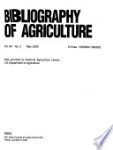 Bibliography of Agriculture with Subject Index  , Band 64,Ausgabe 5