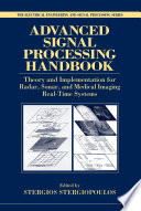 Advanced Signal Processing Handbook Book PDF