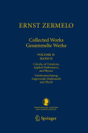 Ernst Zermelo   Collected Works Gesammelte Werke II
