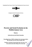 Poverty and Social Exclusion in the Mediterranean Area