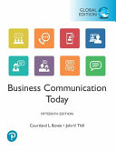 Öffnen Sie das Medium Business communication today von Bovée, Courtland L. im Bibliothekskatalog