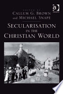 Secularisation In The Christian World Book