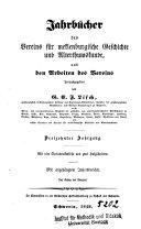 Jahrbücher des Vereins für Mecklenburgische Geschichte und Altertumskunde