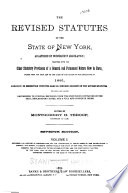 The Revised Statutes of the State of New York Book