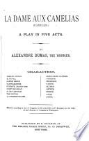 La dame aux camelias Book