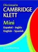 Diccionario Cambridge Klett Mini Espa  ol Ingl  s English Spanish