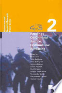 Readings on Criminal Justice  Criminal Law   Policing