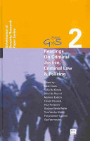 Readings on Criminal Justice  Criminal Law   Policing