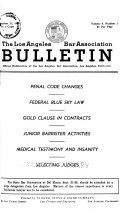 Los Angeles Bar Association Bulletin